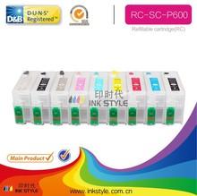 Hot compatible refill cartridge sc-p600 printer for epson