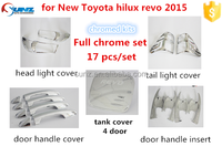For TOYOTA HILUX VIGO 2015 NEW REVO chrome kits car decoration accessorie 17 pcs/set chrome accessory cars exterior accessories