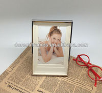 stainless iron mirr photo frame with white chalkboard for table decor