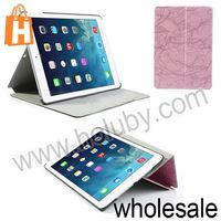 Smart Wake Up Sleep for iPad Air Case,Crackled Texture Flip Stand PC+Leather Case Cover for iPad 5