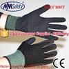 NMSAFETY 13 gauge super soft sandy water pu palm coated gardening glove