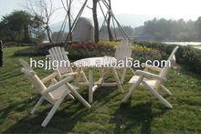de madera de jardín mesa y una silla conjunto
