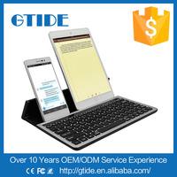 Aluminum Bluetooth Wireless Keyboard for tablet,Universal Wireless Keyboard with stand,Wireless Keyboard with stand