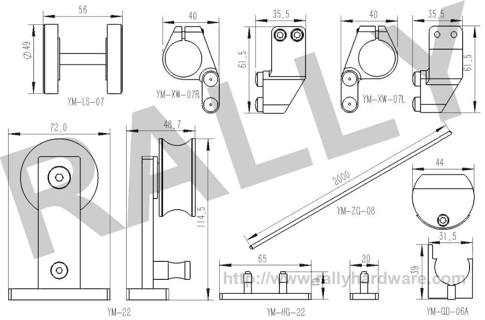 Parts For Partition Sliding Door Wood Barn Sliding Door