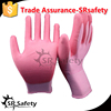 SRSAFETY White 13 Gauge polyester PU gloves cleaning anit oil and gas