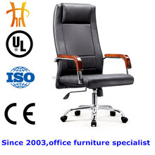 HC-A296 office furniture heated leather office chairs with wooden armrest executive office chair