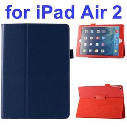 Litchi Pattern Stand PU Leather Smart Flip Case Cover for iPad Air2