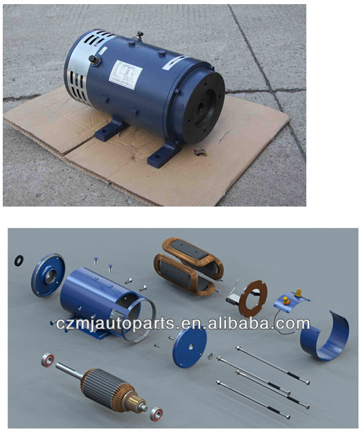 72v 2800 5000r Min Gear Motor Traction Motors For