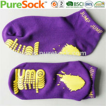 China Factory New 2014 Toeless Plain Cotton or Polyester Bounce Socks Trampoline Socks