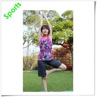 OEM print pattern stretch fabric sleeveless women's sports yoga wear