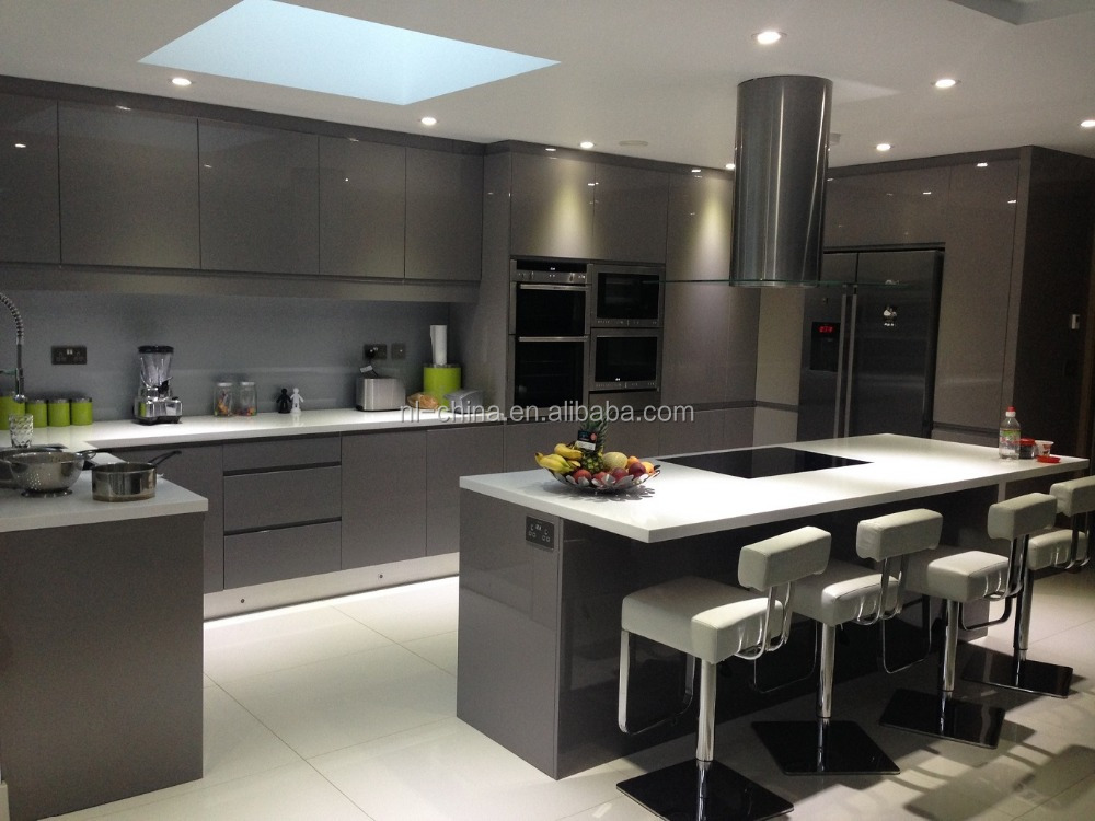 High Gloss Kitchen Furniture White Luxury Modern Kitchen Cabinet