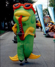 fish inflatable cartoon characters/inflatable moving cartoon/inflatable mascot costume