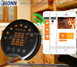 2015 New star gold quality BBQ grill thermometer with APP