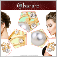 Hot selling newest design women fashion hanging pearl earrings