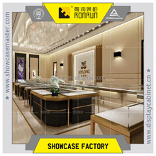 jewelry store showcase with 304# stainless steel and low iron tempered glass high-temperature painting