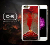 Mobile Phone Volcano Quicksand Liquid Case Cover For iPhone 6s 6 Plus