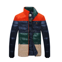 contrast orange color and Brief style application young quality Men winter feather down wear 150162014