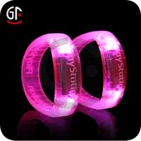 Wholesale Gift Items Party Favor Led Flashing Cotton Cord Bracelet