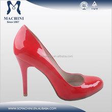 Customized design patent leather sexy women dress shoe 2015