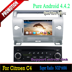 7 inch Android 4.4 In Dash Car DVD Player with can-bus bluetooth GPS Navigation Stereo for Citroen C4 2004-2010