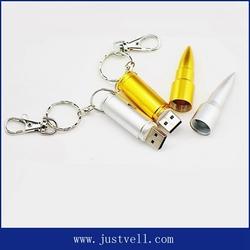 promotional portable thumb drive silver bullet usb flash drive, wholesale thumb drive