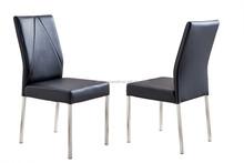 JC711 dining chair black white brown