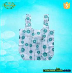 promotional 210d fold up polyester bag/foldable shopping bag