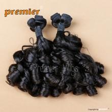 wholesale hot selling new design 16' natural color classic curl peruvian hair extension bundle