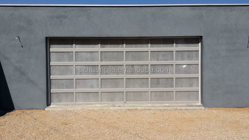 Aluminum Panels For Garage Doors : Black anodized aluminum frame automatic frosted tempered