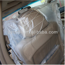 disposable interior accessories plastic car seat cover car seat cover transparent for front car. Black Bedroom Furniture Sets. Home Design Ideas