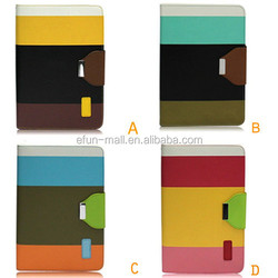 High quality flip leather protective cover case for ipad mini with stand holder