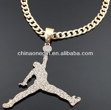 Dunking Basketball Fashion Chain Necklace