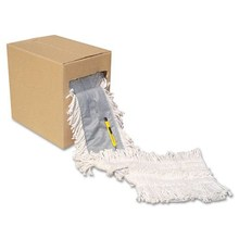 Industrial grade disposable dust mop head 5 inch 40 feet with cutting knife