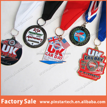 Alibaba China factory Wholesale custom High Quality new products cheap price gold make your own medal sport medal w ribbon