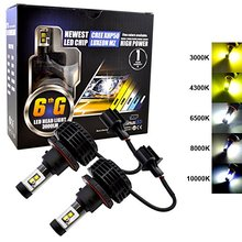 H11 H9 H8 XHP50 All-In-One LED Headlights 6000 Lumens (3000 per bulb) Comes with 5 different color options