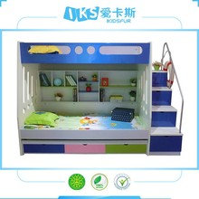 Space saving Bunk bed with kids toy cabinet, moved bed