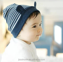 cute bear designer knit cotton baby hat, personalized baby hats
