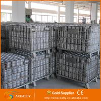 Aceally Warehouse Industrial storage heavy duty galvanized wire cage