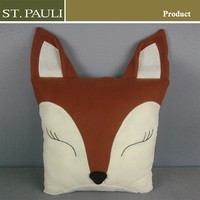 sofa waist pillowcases fox hedgehog kid pillow animal shape