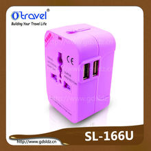 2014 Hot Worldwide Travel Adapter sell to American, Japan, England, France countries with/without USB port