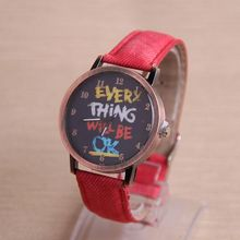 2015 Hot Lady Girl Watch Casual Canvas Cartoon Red/White/black