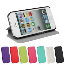 New plain Ultra-Thin Leather Case For iPhone 5 5G 5S