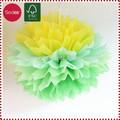 Papel de seda colorido Artificial flor Pom Pom
