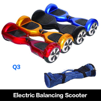 USA Warehouse 6.5 inch 2015 Hot 2 Two Wheel Self Electric Balancing Unicycle Scooter Self Balance Scooter with LED Light