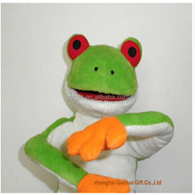 Hot selling frog plush toy can wear for adult