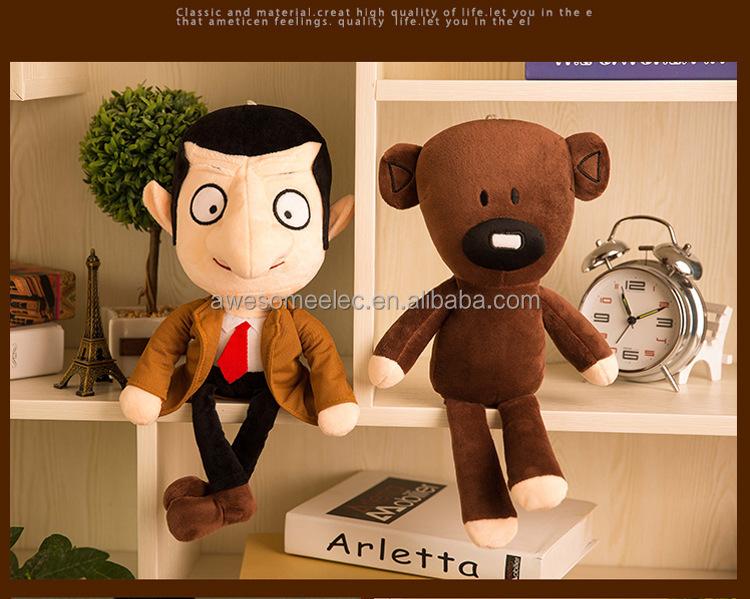 (Cartoon) heißer verkauf nette Mr. Bean Bär Tier Plüsch Spielzeug Brown Figur Teddybär weiche Puppe für Kinder