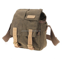 Waterproof Canvas Brown Digital Camera Camcorder Messenger Shoulder Bag Carry Case For Sony for Nikon FOR Canon