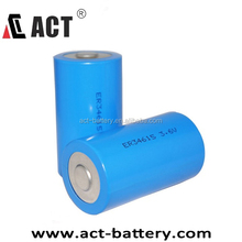 3.6V 19000mAh lisocl2 cylindrical ER34615 lithium dry cell battery