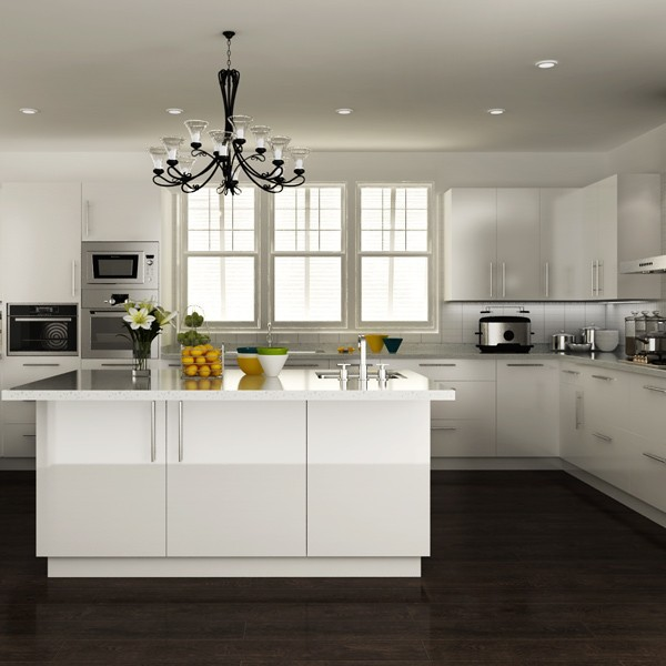 Australie int gr ins blanc laqu armoires meubles de for Cuisine moderne blanc laque