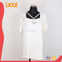 flared sleeves blouses square neck with straps rayon blouses for female